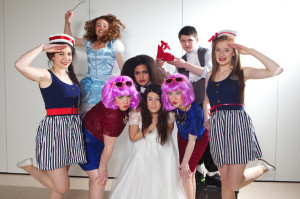 Transition Year students from Colaiste Ide agus Iosef who will be performing Cinderella for two nights only,  Thursday 23rd and Friday 24th January, pictured last Monday was l-r: Kerrie Ann Finucane, Ashling Scanlon, Jackie Hartnett, Joanna Maynard, Andrea Collins, Deirdre O'Connor, Daniel Leahy and Muireann Hickey.