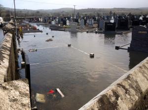 The scene at Kilbanivane Cemetery on on January 26-2014 ©www.mainevalleypost.com