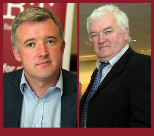 Newly appointed adviser to President Michael D Higgins, Liam Herrick (left) has strong Cordal roots. Uncle Joe Walsh and all from Sheheree are proud of his achievements over the years.