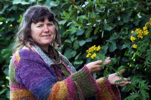 Kilflynn based herbalist, Christine Best.  ©Photograph: John Reidy