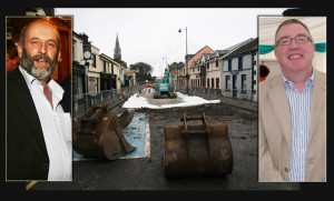 Cllr. Danny Healy-Rae (left) and Cllr. Bobby O'Connell on opposite sides of the Church Street one-way debate. ©Photographs: John Reidy