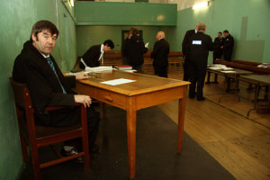 Last Sitting: Judge James O'Connor pictured on the occasion of the final sitting of Castleisland District Court. ©Photograph: John Reidy 22-12-2011