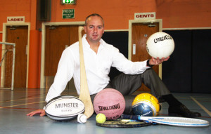 Sports Psychology Consultant, Martin Horgan - out of action through serious spinal operation. ©Photograph: John Reidy