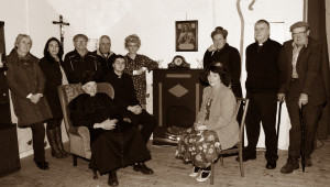 Spike Players Group members: Seated: Bertie Hickey, Conor Reidy and Marian Leahy. Back row: Lilly Doody, Breda Fallon, Noel Murphy, Chris Barrett, Josephine Roche, Fred Browne, Michael Finnegan and Gerard Joy pictured during rehearsals for Moll at Knocknagoshel Community Centre on Saturday evening.  Group members: Mairead Brosnan and Kieran McAuliffe were unavailable at the time the photograph was taken. ©Photograph: John Reidy