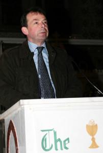 Castleisland Parish Council Chairman, Jack Shanahan speaking at the opening of the parish mission on Sunday evening. ©Photographs: John Reidy