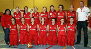 Team Tom McCarthy's St. Mary's pictured before their victory over Tralee Imperials in the Senior Women's National League game at Castleisland Community Centre at the start of the current season. Included are front from left: Miriam Leane, Noelle Scanlon, Eabhnait Scanlon, Eileen O'Connor, captain; Aisling O'Connell, Philomena O'Connor and Danielle McLaughlin. Back row: Bríd Kenny, manager; Joanne Riordan, Aoife Nolan, Mags Daly, Denise Dunlea, Roisín Casey, Lorraine Scanlon, Reidín O'Loughlin and Cormac O'Donoghue, coach. ©Photograph:  John Reidy  23-11-2013