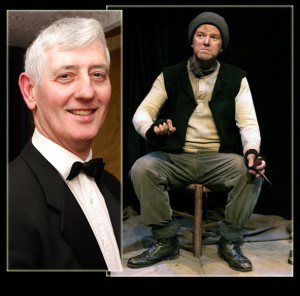 Ivy Leaf Art Centre Director, Jerome Stack and writer / performer, Aidan Dooley in a scene from his one man show, Tom Crean - Antarctic Explorer.