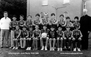 Castleisland AFC before annual trip to Manchester 16-8-1988