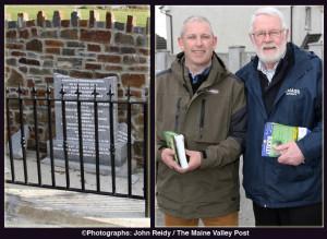 Martin Ferris, TD canvassing in the Castleisland on Saturday with Killarney Electoral Area Sinn Féin candidate, John Buckley. Deputy Ferris condemned the attack on the monument in Knocknagoshel. Photographs:  John Reidy