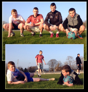 Spring in the Air: Top: Aaron Nolan (left) with: Jason Keane, Colin McCarthy and Darren Maunsell. Bottom: Aaron Nolan, Jason Keane, Darren Maunsell and Jamie Maunsell. ©Photographs: 12-3-2014