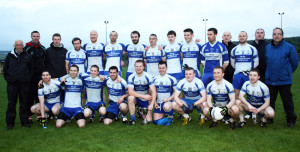 The Castleisland Desmonds Senior Football Team winners of the 2014 North Kerry Division 1 League after they defeated Beale in the final in Duagh on Saturday evening. Front from left: Maurice Lynch, Maurice Hickey, Barry O'Neill, Niall Mitchell, Pat Ftizgerald, captain; Stephen Bartlett, Greg O'Connor, Thomas Hickey and Seán Lynch. Back from left: Jimmy O'Connell, club chairman; Pádraig Murphy, coach; Cian O'Connor, Shane  O'Connor, Ciaran O'Callaghan, Pa White, Kieran Brennan, Stan Divane, Gearóid Leonard, Gearóid McCarthy, Ger Reidy, Tommy Hickey, manager; Barry Lynch, Patsy O'Donoghue, selector and Martin O'Donoghue, statistician. Photograph: Pat Hartnett. 26-4-2014