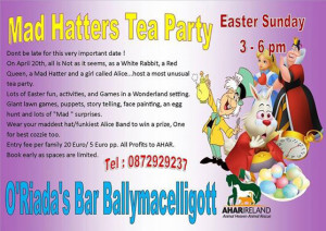 Don't be late for this very important date at O Riada's Bar & Restaurant between 3pm and 6pm on Easter Sunday afternoon!