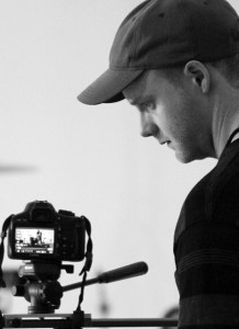 Award winning director, Shaun O'Connor pictured at work on a project.  Photo by Brian Benjamin Dwyer.