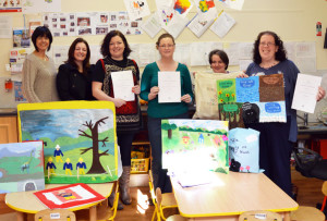 Pictured at a presentation of certificates to 'Story Sacks' participants were from left: Liz Galwey, Castleisland Family Resource Centre; Deirdre Fitzgerald, Kerry Education & Training Board; Denise Horan, Mary Browne, Jacqui Hall, Kerry ETB tutor and Doreen O'Sullivan.