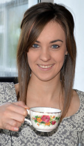 Tea Time: Amber Galwey planning a May-Day tea-day on Church Street on Thursday with mom, Liz.