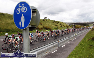 The Cycle Lane: An Post RÁS cyclists heading down the N21 Castleisland Bypass on Stage 4 of the race from Charleville their way to Caherciveen  just after noon on Wednesday. ©Photograph: John
