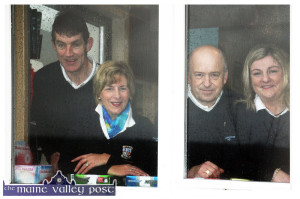 2014  captains: Margaret Moloney and John O'Connell (right) and presidents: Ann Stuart and Maurice O'Connor looking out for better conditions for the year ahead as they settled into their roles at the scenic and beautifully developing course at Tulligubeen. The course is now facing into its 13th. year of service since is was opened in the summer of 2002.  ©Photograph: john Reidy