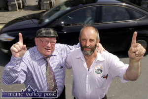 No. 1 for Danny: Will this weekend mark another milestone in the Healy Rae Election Bandwagon as both Cllr Danny - pictured here with his father, Jackie Healy-Rae - and his son Cllr. Johnny Healy-Rae look set to record resounding wins in their respective constituencies. ©Photograph: John Reidy