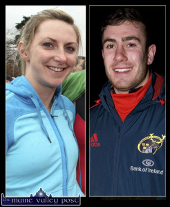 Currow's finest: Siobhán Fleming and JJ Hanrahan among the winners at the 2014 Munster Rugby Awards on Thursday. ©Photographs: John Reidy