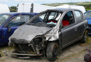 The car in which the teenage girl tragically lost her life late on Sunday night.