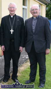 Bishop Ray Browne and Monsignor Dan O'Riordan pictured at recent event at Scoil Muire Gan Smál in Castleisland. ©Photograph: John Reidy 5-6-2014