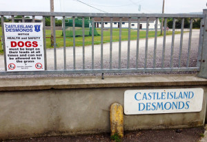 One of the signs of the Castleisland Desmonds GAA Club grounds at Moanmore. Clubs have become increasingly aware of their health and safety obligations. Desmonds, for example, has a huge underage membership and a reflecting sense of responsibility. ©Photograph: John Reidy