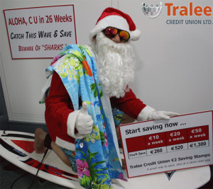 Santa as you've never seen or even thought of him. Credit Union members will understand.