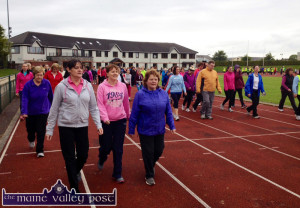 Some of the huge turn-out for the Walkers' Club / Couch-to-5K first outing at An Riocht AC on Tuesday evening from 7-30pm. The gathering will continue on Thursday evening at the same time and on every Tuesday and Thursday evenings for the summer. ©Photograph: John Reidy  3-6-2014