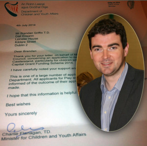 Welcome grant announcement for the local library by  Brendan Griffin TD (FG).