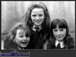 Three happy faces on The Girls at Play in St. John's Park in 1995. Can you name them ? ©Photograph: John Reidy