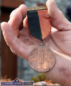 This Irish War of Independence medal was issued in 1941 and is the non combat version. The  medals were issued without names and numbers. The recipients often put their own names and numbers on but not in this case.