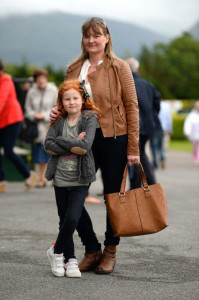 Reidín Wilkinson, Castleisland and her daughter, Shauna striking an elegant Mom & Daughter pose at the Killarney races on Monday. ©Photograph: Dominick Walsh.