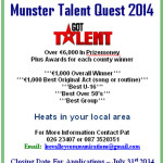 Talent Competition open to Munster