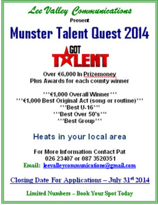 The poster with all the details of the competition.