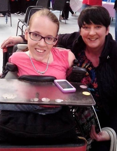 Carmel O'Connell meeting the inspirational, Joanne O'Riordan at the NEKD awards night.