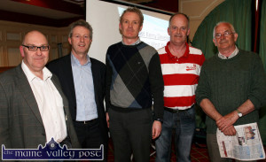 At the NEKD support meeting at the River Island Hotel in Castleisland were from left: Tom Farrelly, Eamonn O'Reilly, CEO NEKD; Seán Linnane, Paul McKeown and Pat Mitchell. ©Photograph: John Reidy 15-4-2014