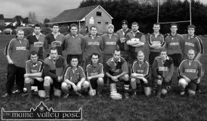 The Castleislisland Rugby team which defeated Tralee 15-0 in the Division 3 Munster Junior League at The Crageens on Sunday. Front from left: Bernard O'Connor, Paudie Crowley, John Brosnan, Denis Reidy, Brian Fleming, Brian McMahon, Patrick Hickey and Billy O'Sullivan. Back row, from left: Myles Reidy, Mick O'Donoghue, Trevor O'Donoghue, Diarmuid Riordan, Mike Cronin, Mike O'Sullivan, Matthew Ahern, Declan Smith, Joe O'Connor, Pat McMahon and Willie Walsh.  ©Photograph: John Reidy  9-1-2005