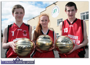 Back to April:  St. Mary's players: David Shanahan (left) with: Kayla O'Connor and Adam Donoghue with their Golden MVP trophies after the remarkable 'All-Ireland Weekend' for the club. ©Photograph: john Reidy 18-4-2014