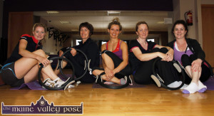 Instructor, Lisa Horgan (centre) with a Pilates class at An Riocht AC where the winter programme of sessions has just been announced. Includade are from left: Julianne Lane, Deirdre O'Connor, Ms. Horgan, Marie Lenihan and Rachel Gallagher. ©Photograph: John Reidy 19-8-2014