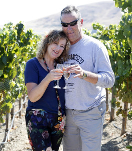 Bernadette Hanrahan and John O'Mahony, from  Kerry, pictured here enjoying the views of Rams Gate Winery, Sonoma, California after they were joined by 43 other lucky Winning Streak players and their guests, who jetted off to San Francisco for a 6-day trip of a lifetime thanks to the National Lottery. Pic. Robbie Reynolds