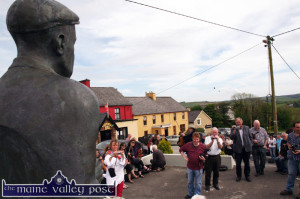The greatly admired village and monument to Patrick O'Keeffe in Scartaglin with its World Fiddle Day population in May. ©Photograph: John Reidy 17-5-2014