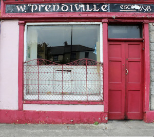 Going on the market. The once thriving Sheila Prendiville's Bar & Grocery at No. 22 Main Street, Castleisland - the sale of which is being handled by Galwey Auctioneers.