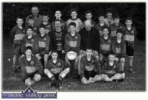 This week's Post Card from the Past features the Cordal GAA Club's U-12 Co. League Champions from 1999.  Co. League U-12 Gaelic Football Champions: Cordal GAA Club's U-12 team which won the Co. League in 1999. Included are front from left: Timmy Brosnan, Shane Drumm, Fionán McCarthy and Paul Horan. Middle row from left: Michael Cronin, Michael John Kearney, Seán O'Leary, coach; Pádraig O'Connor, captain; Michael Kearney, sponsor; Brian Reidy and Shane O'Leary. Back from left: Pat O'Sullivan, Gerard O'Donoghue, Joe Horan, coach; Muiris O'Connor, Donagh Regan, Kevin O'Connor, Paudie O'Donoghue, James Roche, Sheila Kearney, sponsor; Louis Drumm and Brian O'Connor.  ©Photograph: John Reidy   12-12-1999