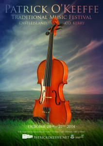 The 2014 Patrick O'Keeffe  Traditional Music poster. ©Design/Photography: Micheál Reidy