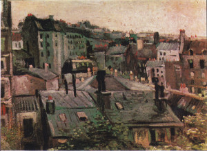 Van-Gogh's Rooftops of Paris which featured in Con's first contribution to television over 50years ago.