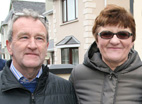 Good Luck Strikes Twice: George and Joan Glover, Ballymacelligott - both won €50 prizes in the same An Riocht AC Members' Draw. ©Photograph: John Reidy