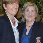 New captain, catherine Horan (left) with the outgoing, Margaret Moloney.
