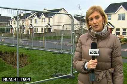 TG4 reporter, Grett O'Connor on site at Cahereen Heights on Monday morning.