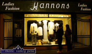 Seeking inspiration for taking on the LBD Challenge at An Ríocht at Hannon's Ladies Fashions. ©Photograph: John Reidy