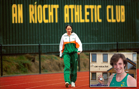 An Ríocht AC Athletes, Laura Crowe and Brendan O'Connor were both selected on Irish teams for European championships after fine performances in Co. Louth at the weekend. ©Photographs: John Reidy
